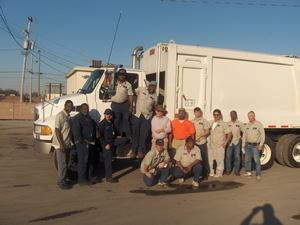 sanitation team and truck