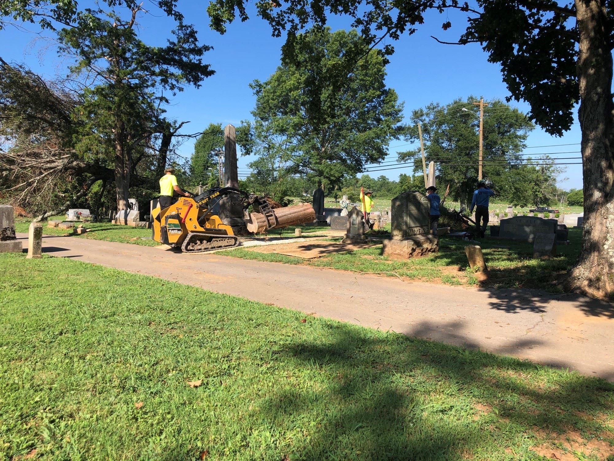 Photo - Cemetery Tornado Related Tree Damage Cleanup Begins  7-27-20  B