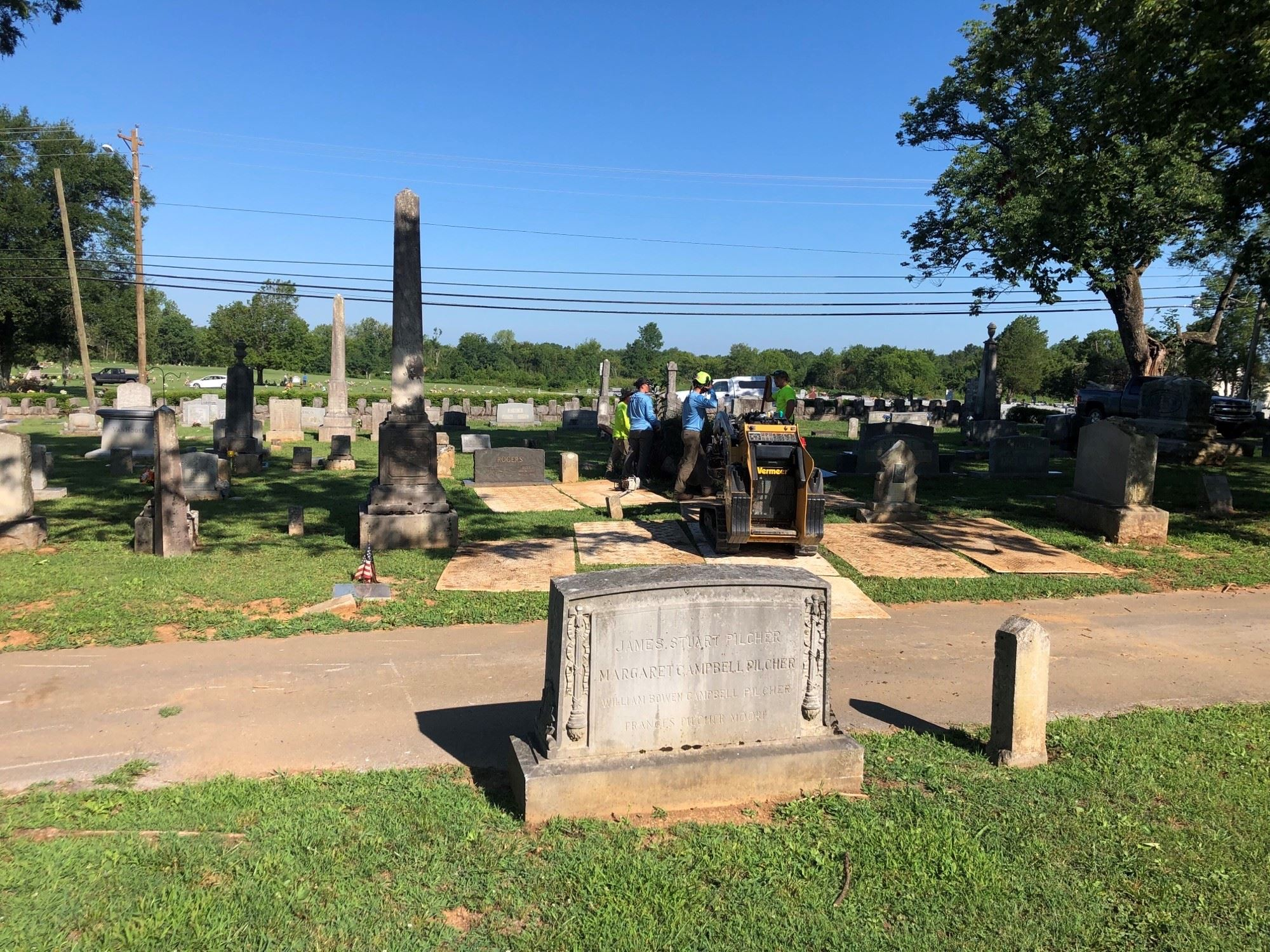 Photo - Cemetery Tornado Related Tree Damage Cleanup Begins 7-27-20