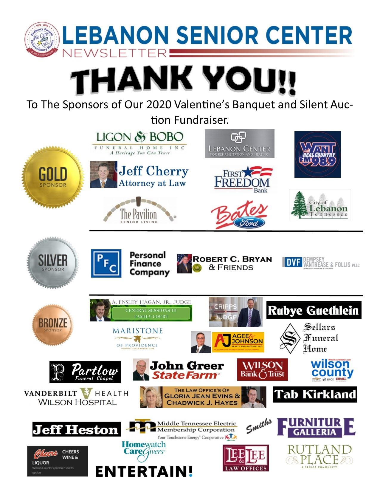 March Newsletter Pg 1 (sponsors)