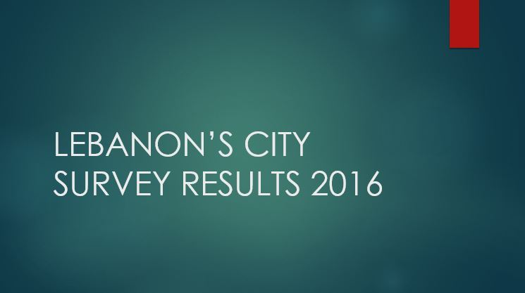 City of Lebanon Survey Results 2016 Opens in new window