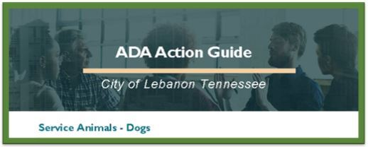 ADA Action Guide - Dogs Title Image