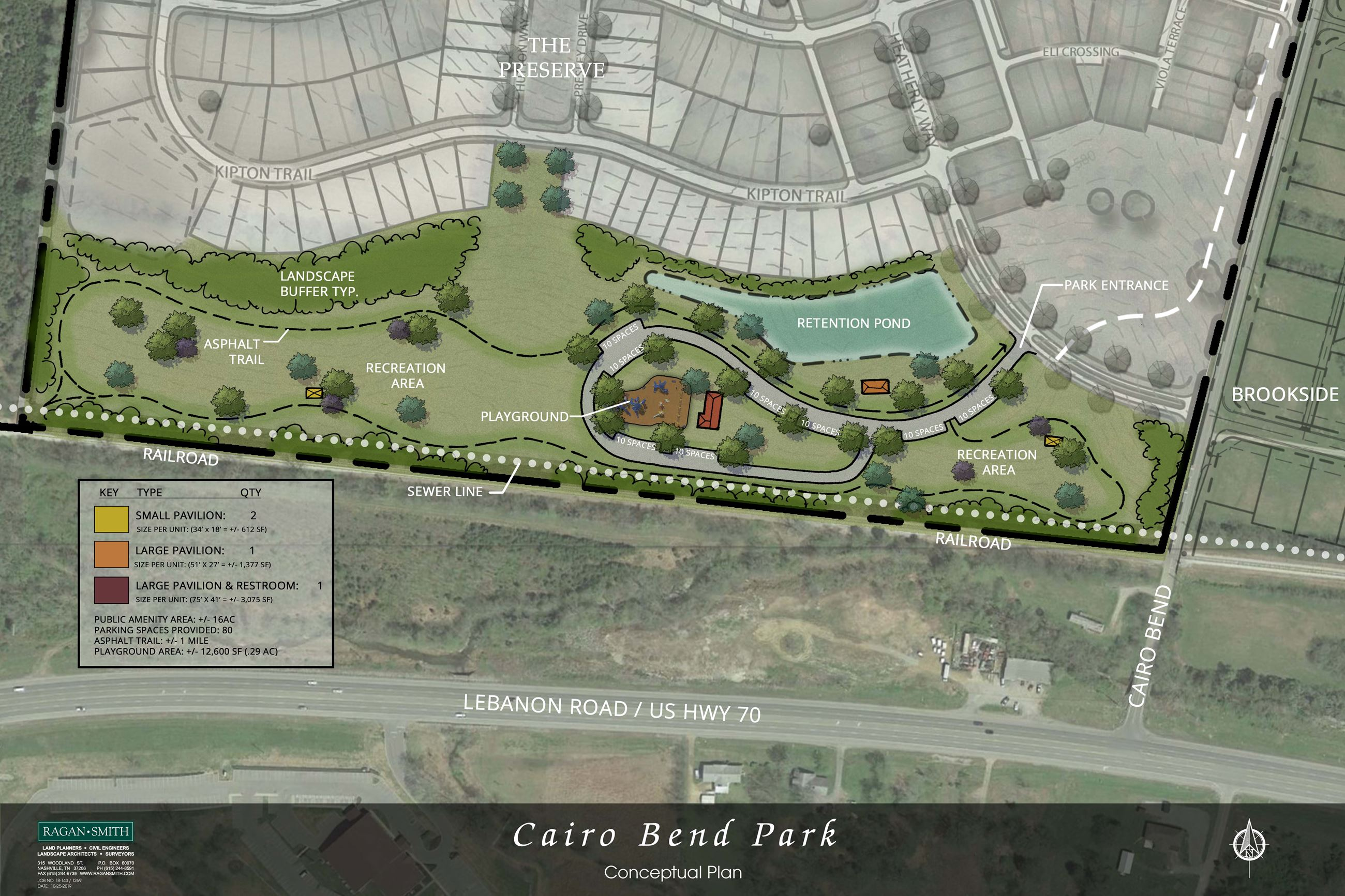 Rendering - Cairo Bend Park without Amphitheater